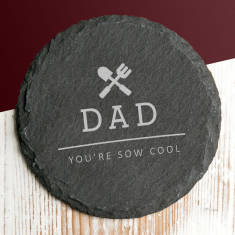 Personalised 'You're Sow Cool' Gardening Slate Coaster