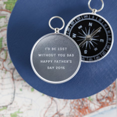 Personalised Engraved Father's Day Novelty Compass