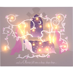 Sleeping Beauty illuminated canvas
