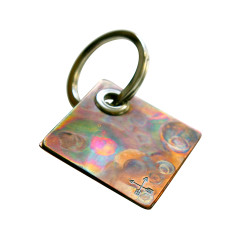 Personalised Pocket Universe Diamond Copper Key Ring