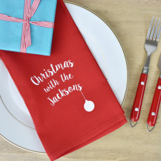 Christmas With The… Personalised Napkins