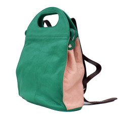 Leather Clark Bag/Backpack - Emerald