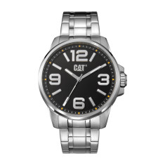 Hampton series watch in steel with black face