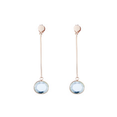 Esther drop earrings in rose gold plate
