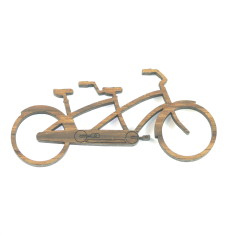 Treadlie tandem bike brooch