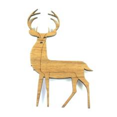 Stag reindeer brooch
