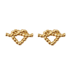 Heart rope earrings
