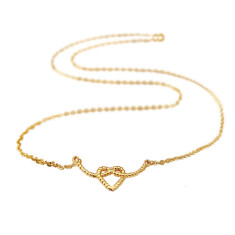 Heart rope necklace (various colours)