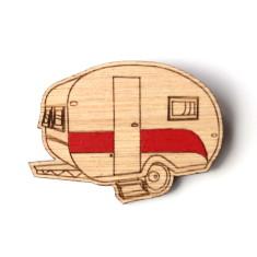 Happy camper brooch