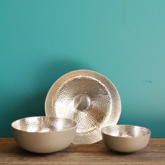 Copenhagen low bowl in grey/silver (various sizes)