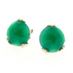 Sterling silver era green onyx earstuds
