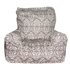 Beige damask bean chair cover