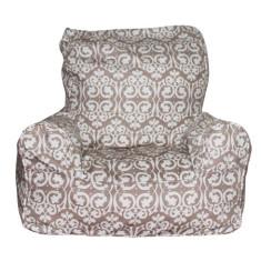 Beige damask bean chair cover