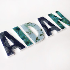 Personalised boys' name letters (price per letter)
