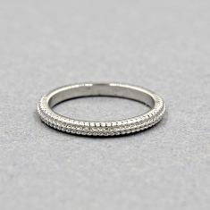 Texture ring in silver