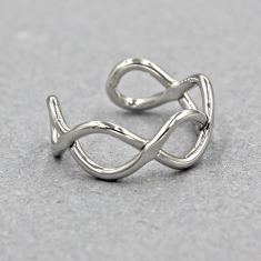 Eternity twist ring in silver