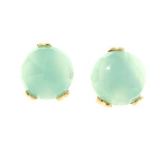 Small Era chalcedony ear studs