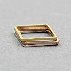 Square stacked rings (set of 3)