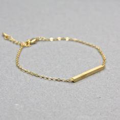 Mini bar bracelet in gold