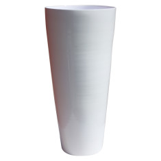 Bamboo vase in white