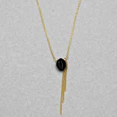 Black onyx eye necklace