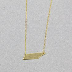 Abstract plated necklace in gold