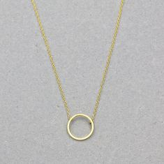 Open circle necklace in gold