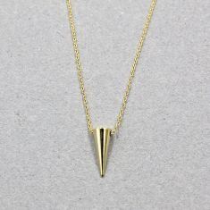 Dainty spike necklace in gold