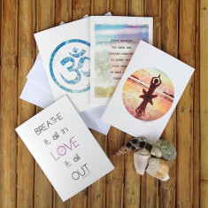 Namaste greeting cards (set of 4)