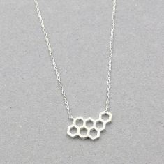 Beehive necklace in silver