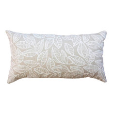 Ku-ring-gai long cushion cover in white on natural