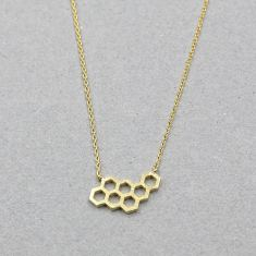 Beehive necklace in gold