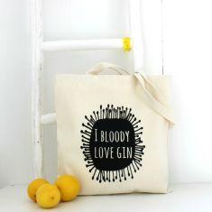 I bloody love gIn tote bag