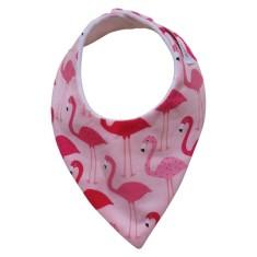 Flamingo dribble bib