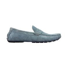 Loafers flap gunmetal men's shoe