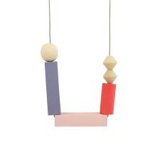 Memphis depeche mode timber necklace