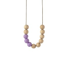 Blonde timber & clay necklace in lavender