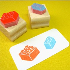 Building bricks rubber stamps