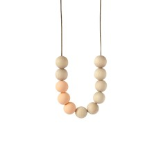 Blonde timber & clay necklace in apricot