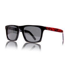 Vanderbilt sunglasses in midnight black with royal red arms