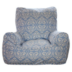 Blue damask chair Cover