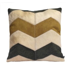 Grande loco cowhide cushion in ochre