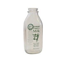 Vermont quart milk bottle