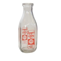 Seegers quart milk bottle