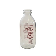 State of Maine quart milk bottle
