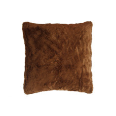 faux fur cushion covers x 2 - Toffee