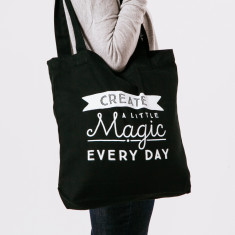 Create a little magic tote bag in black & white