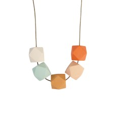 Tetra wood necklace in spring time