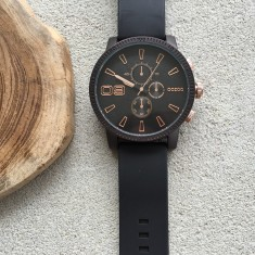 Big Boss black watch (rose gold or silver)