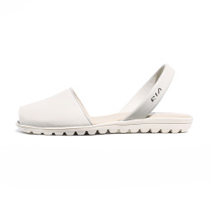 Pepa leather sandals in cream